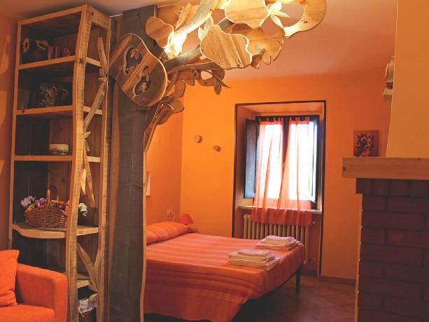 Ampia camera ideale per famiglie a Prodo, Orvieto