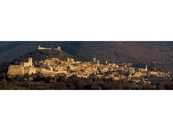 Panoramic view of Assisi from the Rural home Casolare