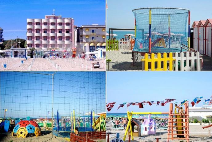 Hotel con Giochi sulla spiaggia ideale per bambini