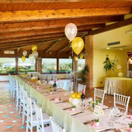 Pranzo prima comunione in residence con piscina Pellazzano