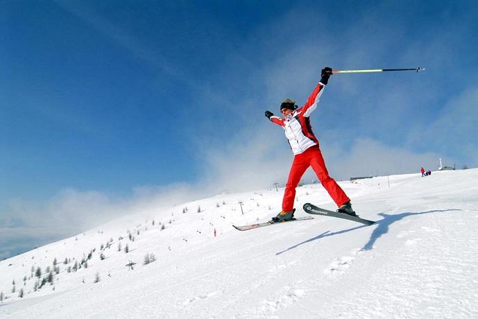 Accesso diretto su pista da sci