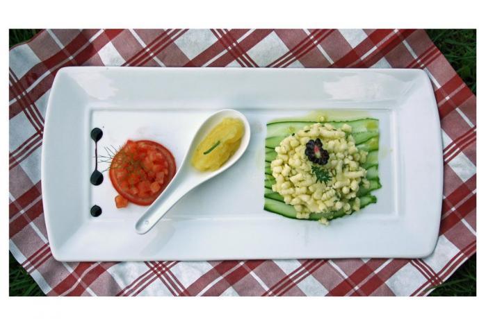 Agriturismo pasto vegetariano a Giustino