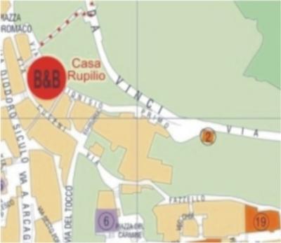 mappa Taormina, mappa BB in centro a Taormina
