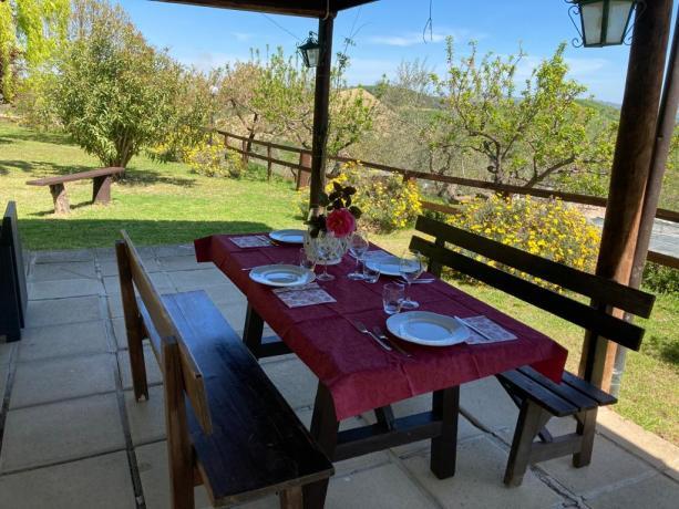 Agriturismo con gazebo esterno arredato Abruzzo-Penne