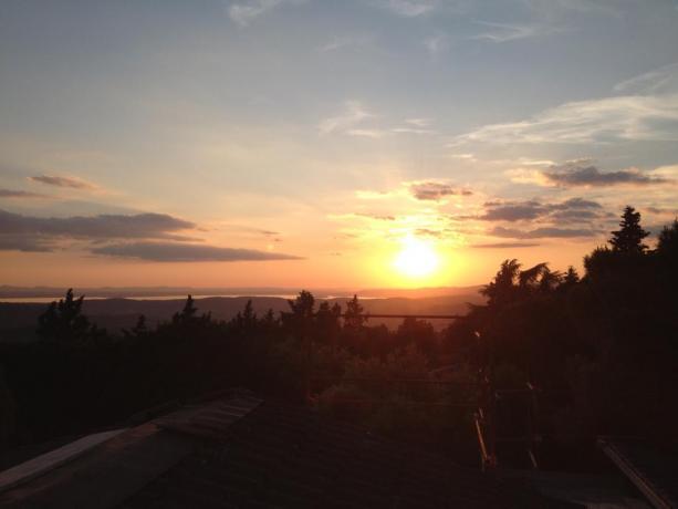 Veduta tramonto dal B&B di Corciano