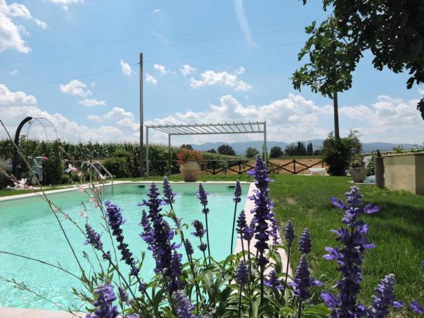 Casa Vacanze Umbria piscina con vista panoramica