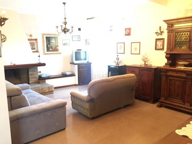 Appartamento Vacanza: salone Caminetto aria-condizionata