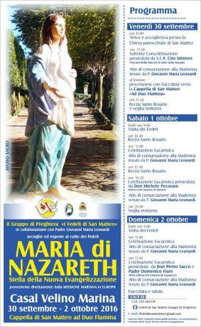Pellegrinaggio a Casal Velino: Maria di Nazareth