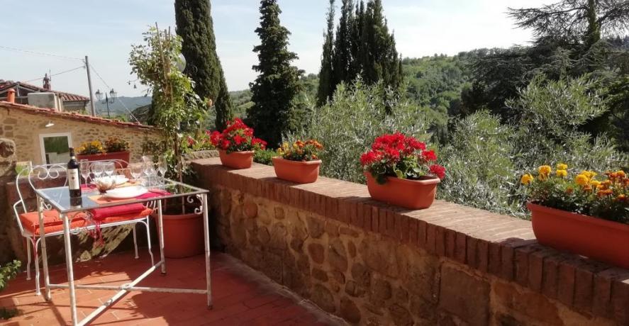 Terrazza panoramica villa a Collodi vicino casa Pinocchio