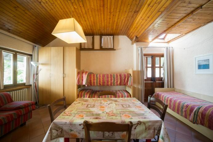 Monolocale Bardonecchia divano-letto letto-singolo letto-a-castello