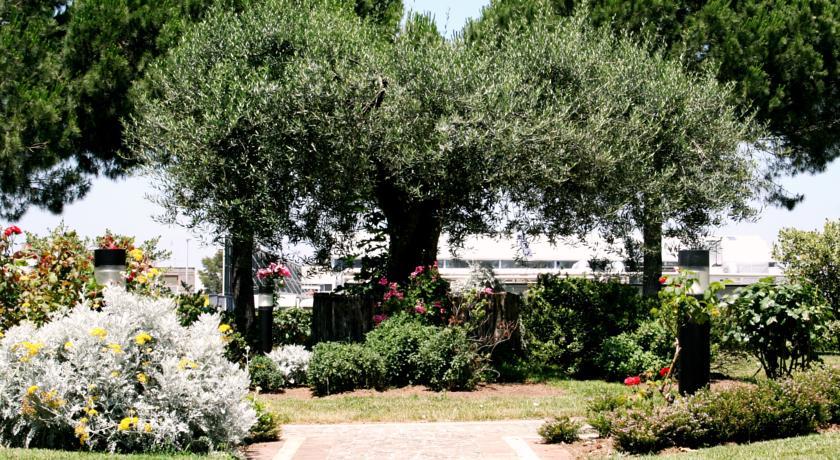 Giardino panoramico dell'Hotel a roma