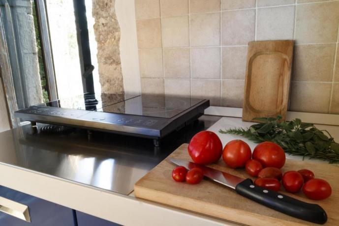 Cucina in Appartamento-Giolli 1-persona in Borgo-sul-Clitunno Umbria