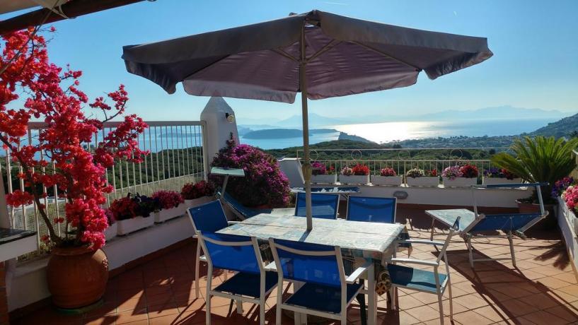 Terrazzo vista panoramica casa vacanze a Barano d'Ischia