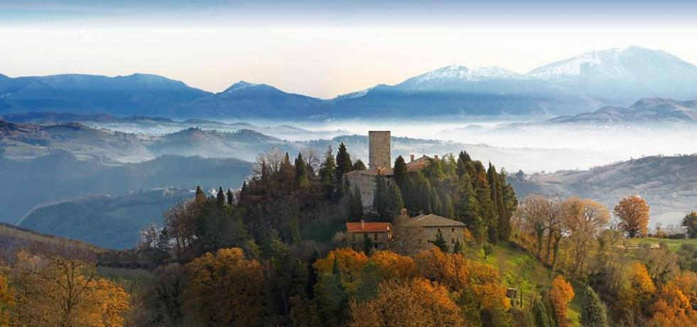 Romantic medieval castle in Umbria