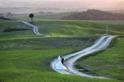 Matrimonio nella campagna toscana