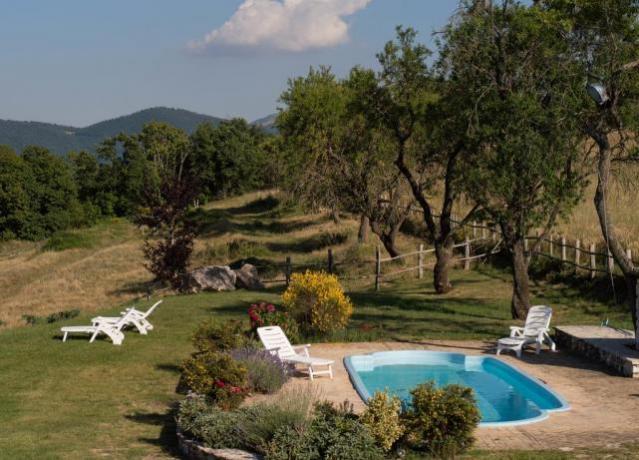 Appartamenti e piscina in Montagna in Umbria