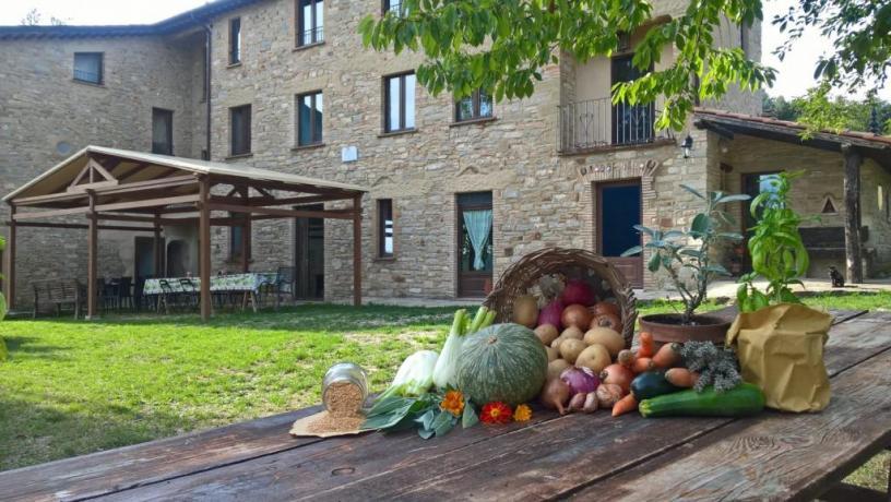 Casale della Quiete Pietralunga Perugia Ristorante Biologico