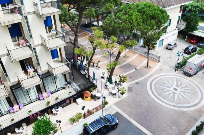 Appartamenti a Cattolica con balcone in vista