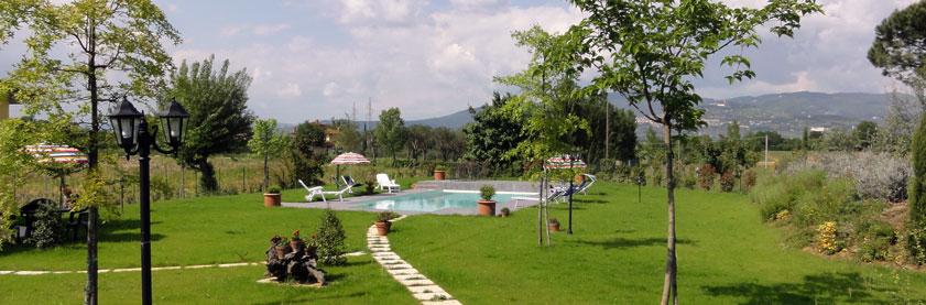 Giardino Casa Vacanze a Cortona