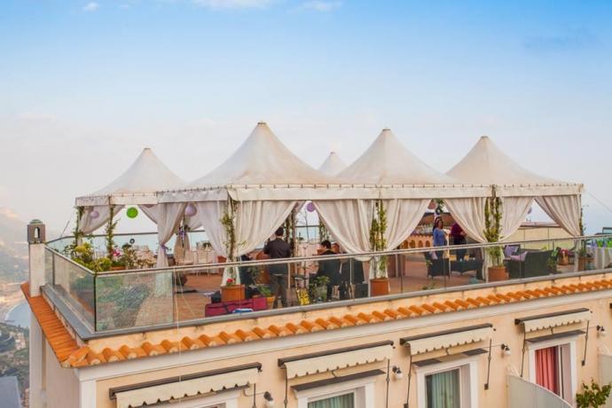 Terrazza panoramica in Hotel a Ravello