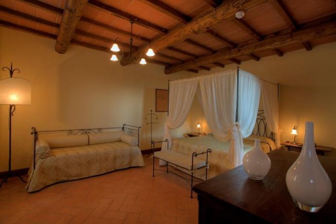 Albergo sul Lago Trasimeno camere con suite familiari