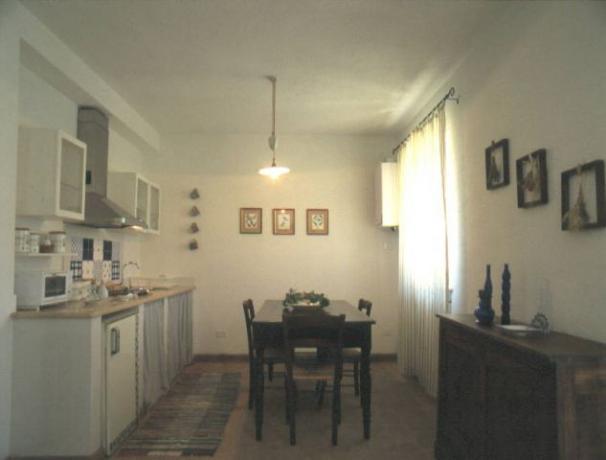 Cucina attrezzata con ampio salone