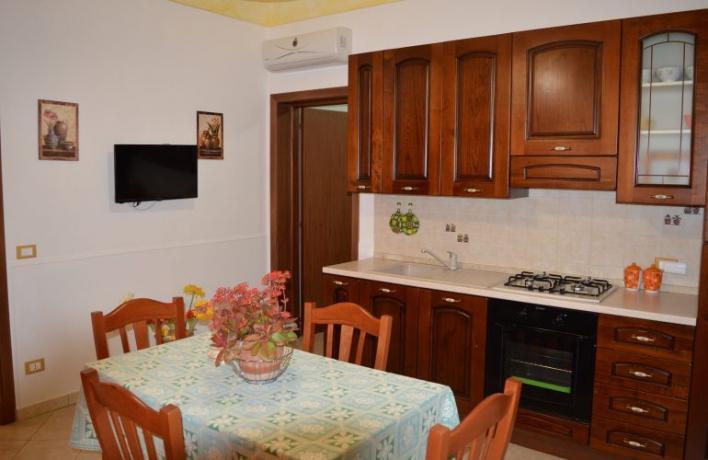 Cucina completa e attrezzata appartamento-vacanze mare San-Vito-lo-Capo