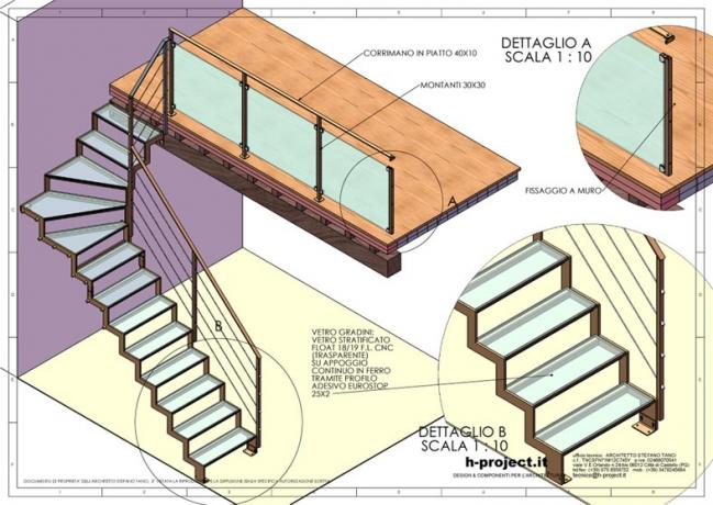 s2-d6 scala prefabbricata disegni