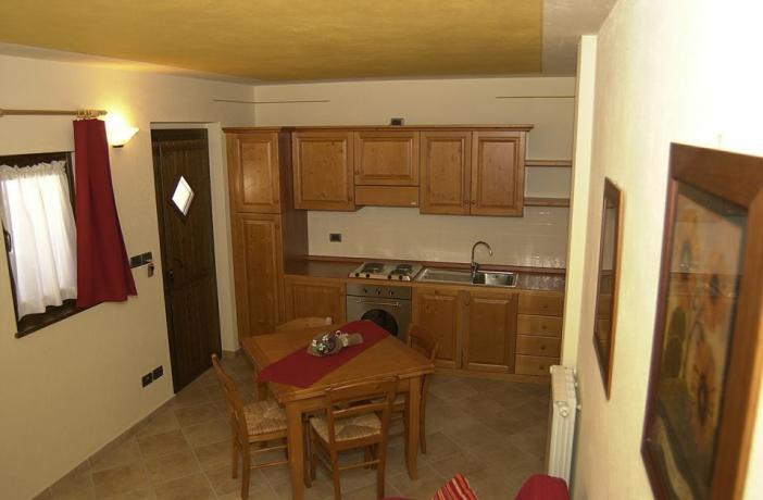 Cucina Appartamento Stella Alpina
