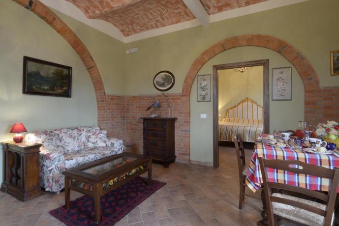 Appartamento-vacanze il pungitopo soggiorno Castiglione-del-Lago