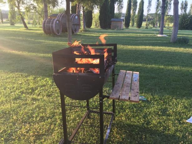 Barbeque per sbraciolate in Agriturismo vicino Perugia
