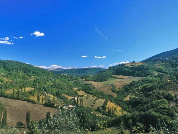 Casali Panoramici con Piscina vicino Assisi