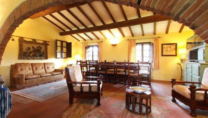 Area soggiorno Casolare in Umbria