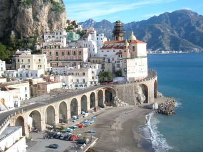 View over  the Amalfi coast