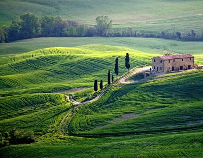 Rural houses and agritourisms in Tuscany, Pienza