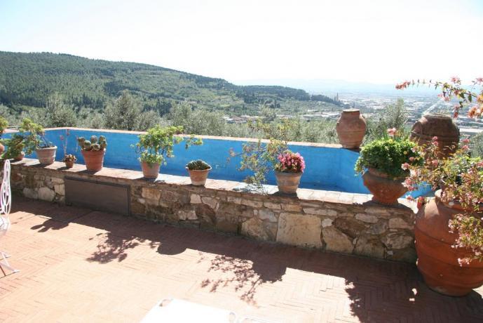 Veduta panoramica relais a Calenzano vicino Sesto Fiorentino