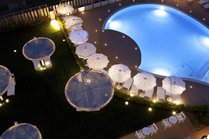 Vista Piscina del Family Hotel di Pesaro