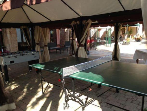hotel con ping pong e biliardino