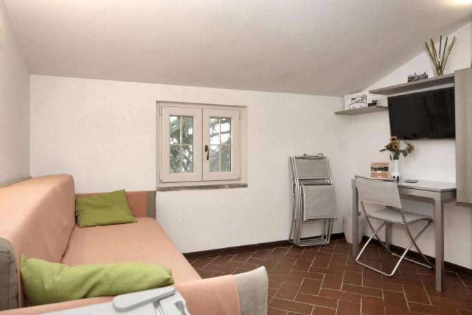 Area soggiorno con TV B&B ad Arezzo