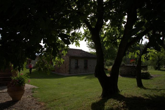 Appartamenti vacanza con giardino in Umbria