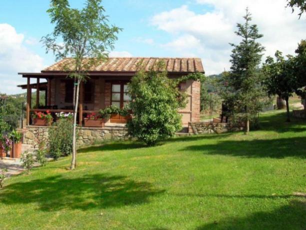 LaCapanna- Spazio Esterno Appartamento GrandeGiardino in Umbria