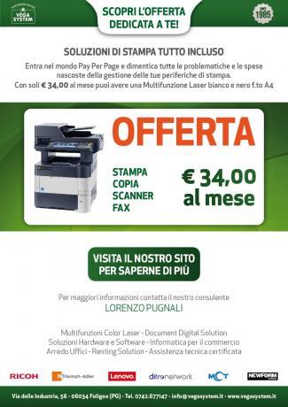 Offerta Stampanti Multifunzione Vegasystem Umbria