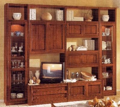 Soggiorni classici e moderni in massello soggiorni legno massello produzione artigianale spello - Mobili classici in legno ...