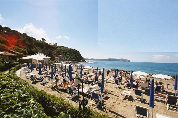 Spiaggia privata residence a Palinuro