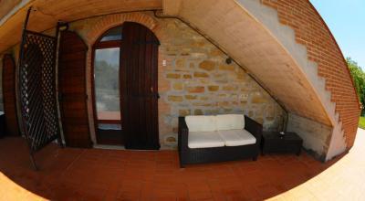 Patio esterno privato appartamenti a Gubbio