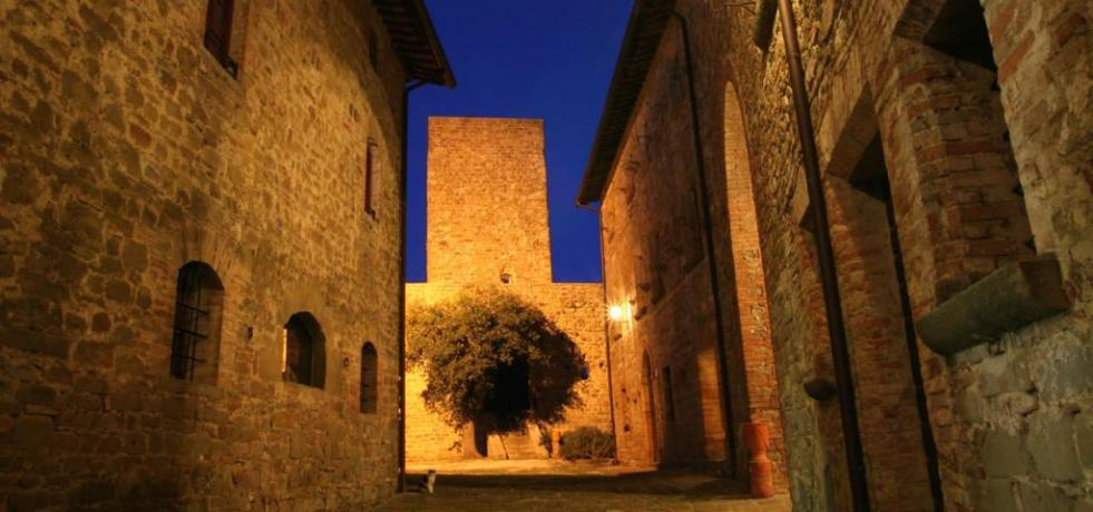 Castello Romantico in Gubbio panorama