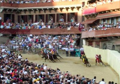 Enjoy the Siena Horse Race from First Row
