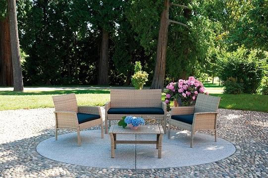 Aloha sofa prendisole a conchiglia ingrosso arredo per for Offerte divanetti da giardino