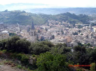 Spoleto, bellissimo comune dell'Umbria in posizion