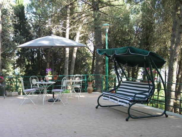 Zona relax nella natura B&B a Corciano